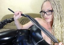 Domme live cam humiliation for worthless tiny penis